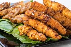 Цыпленок тэмпуры Стоковое фото RF