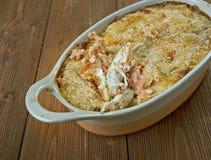 Цыпленок чеддера чеснока печет стоковое изображение rf