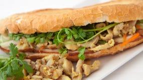 Цыпленок Banh mi Стоковое Фото
