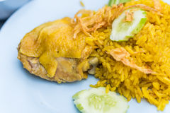 Цыпленок Biryani с зелеными чатнями Стоковые Изображения RF