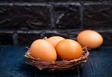 цыпленок eggs сырцовое Стоковые Фото
