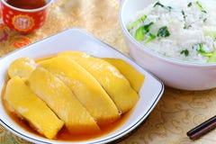 Цыпленок Hainanese Стоковые Изображения