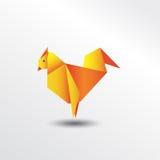 Цыпленок Origami Стоковое фото RF