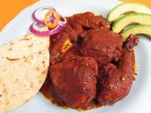 Цыпленок Pibil Yucatecan стоковая фотография rf