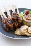 цыпленок satay Стоковая Фотография