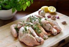 Цыпленок Spatchcock Стоковые Изображения RF