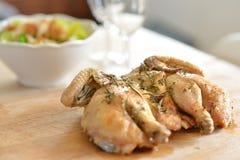Цыпленок Spatchcock Стоковое Фото