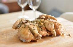 Цыпленок Spatchcock Стоковые Фотографии RF