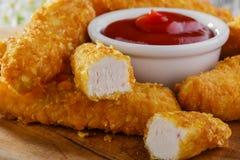 Цыпленок stripsy стоковое фото