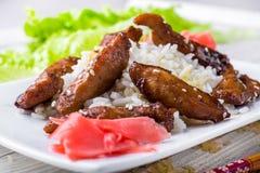 Цыпленок Teriyaki с сезамом Стоковая Фотография