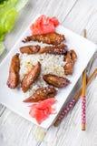 Цыпленок Teriyaki с сезамом Стоковые Фото