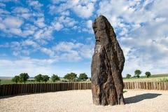 Чабан менгира каменный, Klobuky, чехия Стоковые Изображения RF
