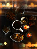 Чаепитие зимы Стоковые Фото