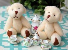 Чаепитие плюшевого медвежонка Стоковые Изображения RF