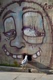 Чайка и любопытство, Oporto Стоковая Фотография RF