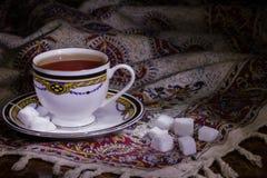 Чайка с чаем Стоковое Фото