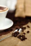 Чайная ложка кофе с фасолями Стоковая Фотография RF