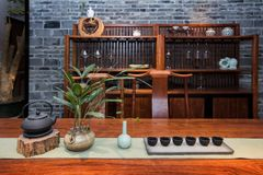 Чайная современных китайских семей Стоковые Изображения