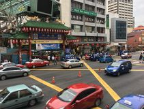 Чайна-таун в городе Куалаа-Лумпур, Малайзии Стоковое фото RF