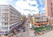 Чайна-таун в Нью-Йорке стоковые фотографии rf