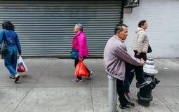 Чайна-таун, Манхаттан, Нью-Йорк, Соединенные Штаты Стоковое Фото