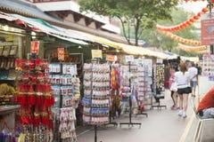 ЧАЙНА-ТАУН, СИНГАПУР - 12-ОЕ ОКТЯБРЯ 2015: Чайна-таун famo места Стоковые Фотографии RF