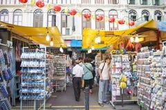 ЧАЙНА-ТАУН, СИНГАПУР - 12-ОЕ ОКТЯБРЯ 2015: Чайна-таун famo места Стоковая Фотография