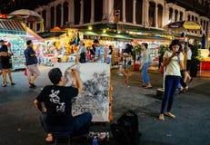 Чайна-таун, Сингапур, празднует фестиваль Mooncake Стоковое Фото