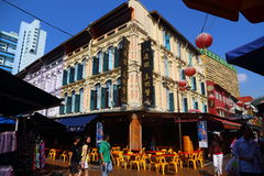 Чайна-таун, Сингапур Стоковое фото RF
