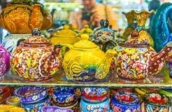 Чайники фарфора Стоковая Фотография