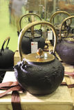 Чайник литого железа Стоковое Изображение