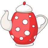 Чайник кухни шаржа домашний иллюстрация штока