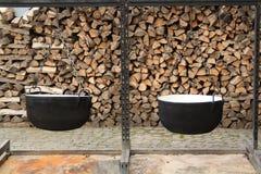 чайник литого железа Стоковая Фотография