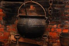 чайник литого железа Стоковое фото RF