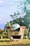Чайник на плите Стоковая Фотография