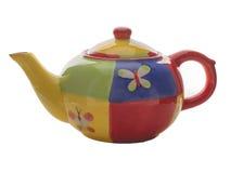 Чайник с картинами Стоковые Изображения