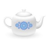 Чайник с флористическим орнаментом Стоковое Изображение RF