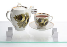 чайник чашки одного одиночный Стоковое фото RF