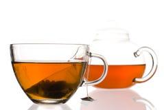 чайник чая чашки Стоковые Изображения RF