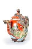 чайник 2 красных цветов Стоковое фото RF