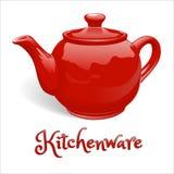 Чайник Kerimichesky для делать чай в красном цвете Стоковые Изображения