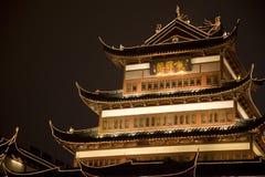 Чайный домик в старом городке Шанхая, Китая Стоковая Фотография RF