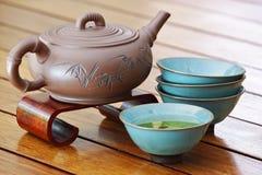 чай азиата установленный Стоковая Фотография RF