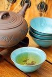 чай азиата установленный Стоковое Изображение