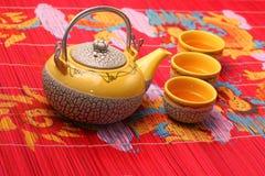 чай азиата установленный Стоковое фото RF