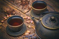чай азиата установленный Стоковые Изображения RF
