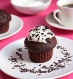 чай булочки чашки шоколада Стоковые Изображения