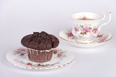 чай булочки чашки Стоковая Фотография
