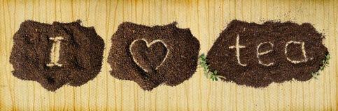 чай влюбленности предпосылки i Стоковое Изображение RF