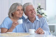 Чай возмужалых пар выпивая Стоковое Изображение